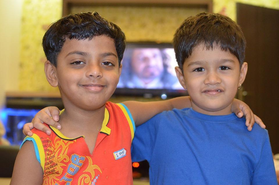 Children Friends Forever Boys Kids Friends Smiling